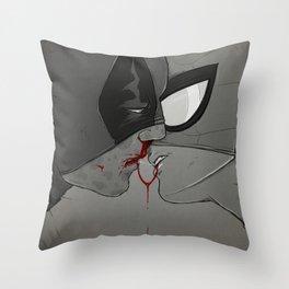 Spideypool: Metal Taste Throw Pillow