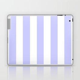 Lavender blue - solid color - white vertical lines pattern Laptop & iPad Skin