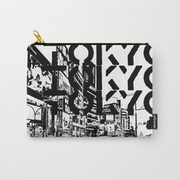 Tokyo Japan Black White Carry-All Pouch