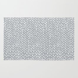 Hand Knit Light Grey Rug