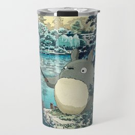 Japanese woodblock mashup Travel Mug