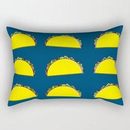 omg tacos! on navy Rectangular Pillow
