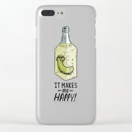 It makes me Happy! Clear iPhone Case
