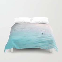 Seagull flying Duvet Cover