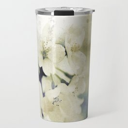 Yellow Green Vintage Cherry Flowers Travel Mug