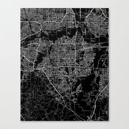 Arlington map Texas Canvas Print