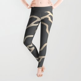 Rose White Gold Sands on Storm Gray Leggings