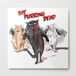 The Purring Dead Metal Print