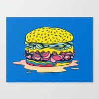 burger Canvas Prints featuring Burger by Maxime Roy