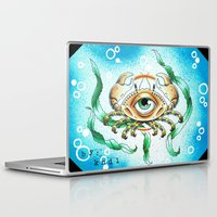 crab Laptop & iPad Skins featuring crab by KNDL KRKLND