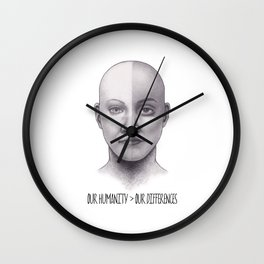 Our Humanity > Our Differences Wall Clock