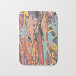 Baesic Primary Paint Drips Bath Mat