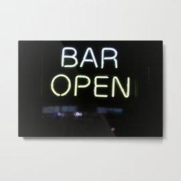 Bar Open Metal Print