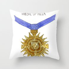 The Congressional Medal of Pizza Throw Pillow