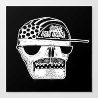 italian Canvas Prints featuring Italian Skull  by Mr. JJ