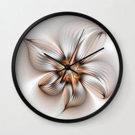 Elegance of a Flower, modern Fractal Art Wall Clock