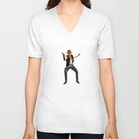 indiana V-neck T-shirts featuring Indiana Solo by Parissis