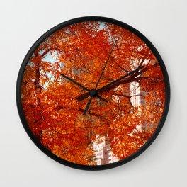 New York City Foliage Wall Clock