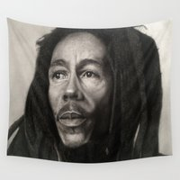 marley Wall Tapestries featuring Marley Drawing by Wega13Art