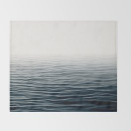Misty Sea I - Abstract Waterscape Throw Blanket