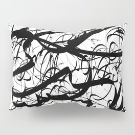 Black and white abstract one Pillow Sham