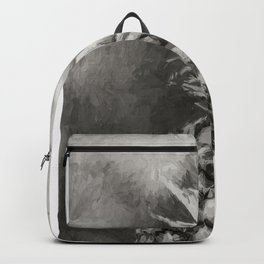 Pineapple Black and White Backpack