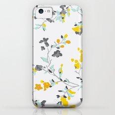 floral vines - light blue and yellow iPhone 5c Slim Case