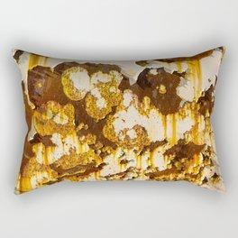 Peeling paint on rust. Rectangular Pillow