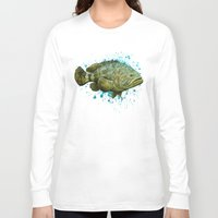lichtenstein Long Sleeve T-shirts featuring Goliath Grouper ~ Watercolor by Amber Marine