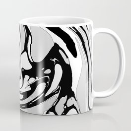 Black, White and Gray Graphic Paint Swirl Pattern Effect Coffee Mug