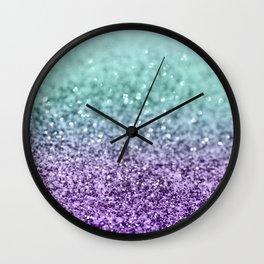 Mermaid Girls Glitter #9 #shiny #decor #art #society6 Wall Clock