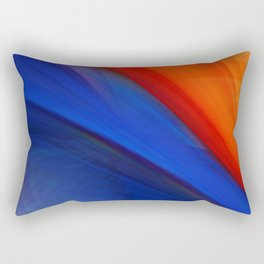 Bright orange and blue Rectangular Pillow