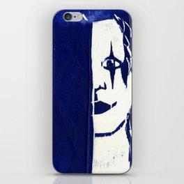 Brandon Lee Blue iPhone Skin