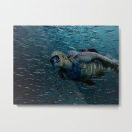 Submarine stone traveler Metal Print