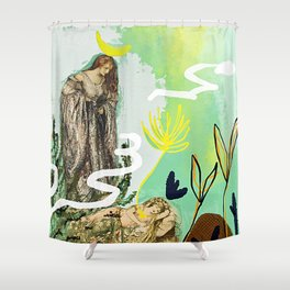 The High Priestess - Tarot Shower Curtain