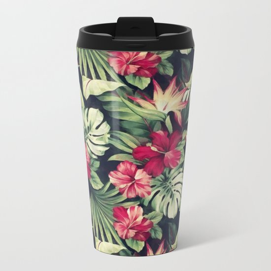 Night tropical garden Metal Travel Mug