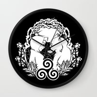 teen wolf Wall Clocks featuring Teen Wolf by grumpy wolf