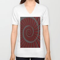 snail V-neck T-shirts featuring Snail  by LoRo  Art & Pictures