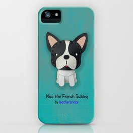 Nico the French Bulldog by leatherprince iPhone Case