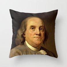 portrait of Benjamin Franklin by Joseph Duplessis Throw Pillow