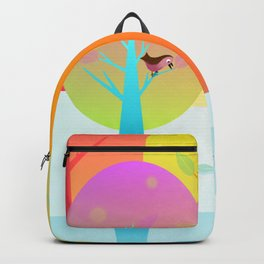 Winter Friends Meet In The Woods Backpack