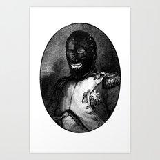 BDSM mask Art Print