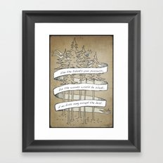 Use Your Talents Framed Art Print