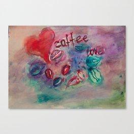 coffee beans, my love Canvas Print