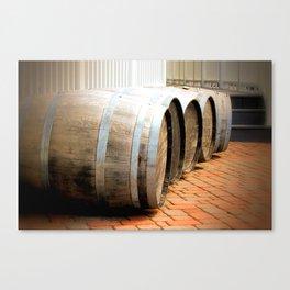 Pretty Barrels in a row  Canvas Print
