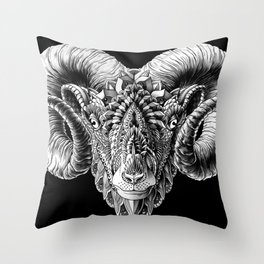 Ram Head Throw Pillow