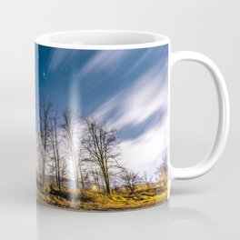 Night sky over Trees Coffee Mug