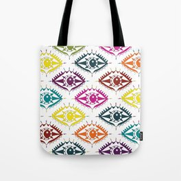 """I see you"" orient eye pattern Tote Bag"