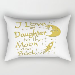 I Love My Daughter to the Moon and Back Rectangular Pillow