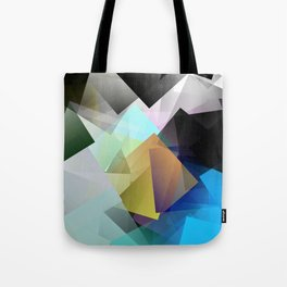 Holographic mountains in Silicon Valley. Tote Bag